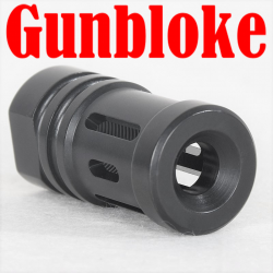 GB-NEW 7 Port Muzzle Brake Compensator 1/2x28