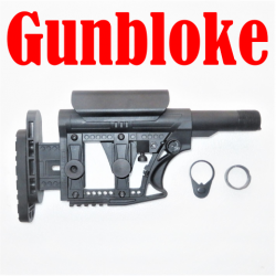 GBABS2 - GUNBLOKE ADJUSTABLE BUTT STOCK WITH ADJUSTABLE CHEEK RISER